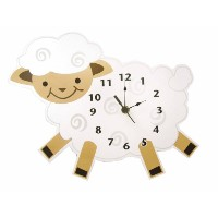 Trend Lab Baby Barnyard Lamb Shaped Wall Clock, Cream by Trend Lab