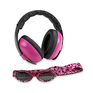 Baby Banz Earmuffs and Infant Hearing Protection and Sunglasses Combo 0-2 Years, Magenta by Baby...