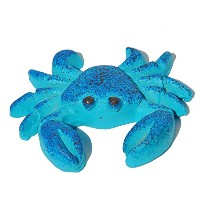 Miniature Fairy Garden Blue Crab by Studio M