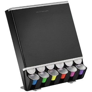 Mind Reader 'Free Fall' Coffee Pod Dispenser For 42 Nespresso Capsules, Black [並行輸入品]