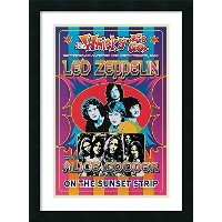 LED ZEPPELIN、アリス・クーパー' Framedアートプリントby Dennis Loren Size: 19 x 25 (Approx), Matted 1579908