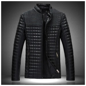 Mlj25 2017 New Arrival Men Solid Korean Style Fashion Male Casual Pu Leather Jacket Slim Fit Solid...