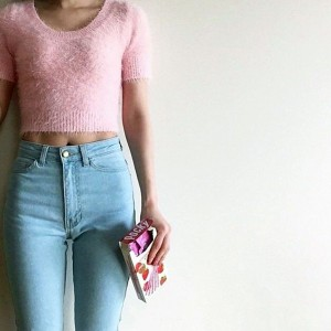 American Apparel Women Aa Classic High Waist Jeans Female Skinny Pencil Denim Pants Pantalones