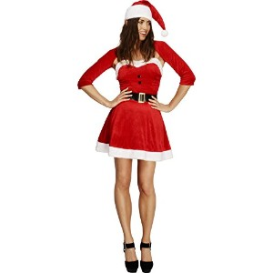 Smiffys Women's Red Fever Santa Babe Costume - Us Dress 10-12