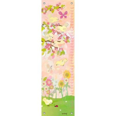 Oopsy Daisy Cherry Blossom Birdies Growth Chart, Butter Cream, 12 x 42 by Oopsy Daisy
