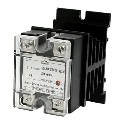 DealMux a12062900ux0302 DC 3-32V to AC 24-480V Solid State Relay SSR 60A W Aluminum Heat Sink