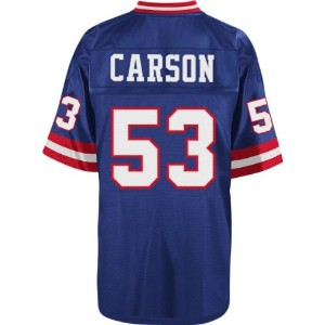 Harry Carson新しいYork Giants NFL Mitchell & Ness Throwback Premier Jersey–ブルー
