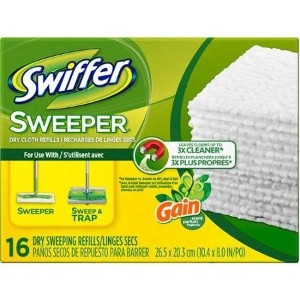 Swiffer Sweeper Gain Original Scent Dry Sweeping Cloths Refills, 16 sheets by Swiffer