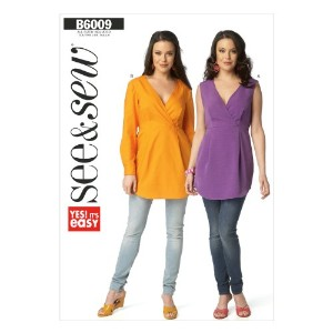 Butterick Patterns B60090A0 Misses' Top Sewing Template, Size A (All Sizes In One Envelope) by...