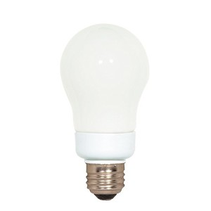 Satco S7282 7-Watt Medium Base A-Type Bulb, 4100K, 120V, Equivalent to 40-Watt Incandescent Lamp...