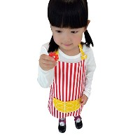 CRB Toddler Little Girls Boysキッズ子供の料理のBaking BakewareキュートChef Bakingトップエプロンポケット付き 3T to 4T