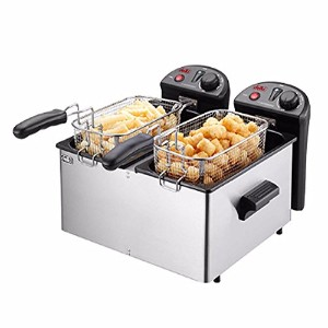 Delki DK-202 Electric Smart Deep Fryer Double Safety Sensor Large 2 Baskets 3.5Lx2 Delki DK...