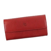 IL BISONTE(イルビソンテ) フラップナガザイフ RED C0918 COWHIDE WALLET RUBY RED [並行輸入品]
