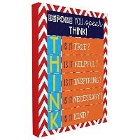 The Kids Room by Stupell Before You Speak Think Textual Canvas Art, 16 x 20 by The Kids Room by...