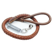Zhhlaixing 犬のロープ Anti-Slip PU Leather トラクションロープ For Medium And Large Dogs Traction Belt For Dogs