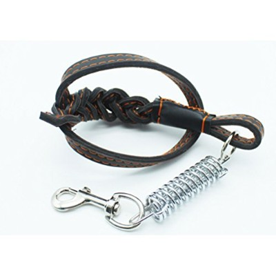 Zhuhaitf Dog Chain トラクションロープ Collar Made Of Durable And Sturdy Pu レザー Spring Twist Traction Rope