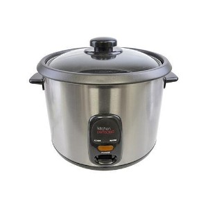 Lloytron E3313 Kitchen Perfected 700W 1.8 Litre Automatic Rice Cooker Steelキッチン完璧な700W 1.8リットル自動炊飯器ス...