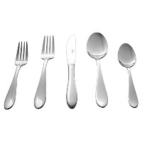 Culina Capri 20pcs Flatware for 4, 18/10 Stainless Steel Silverware Mirror Finish by Culina