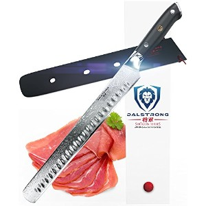 "dalstrong Slicing Carving Knife – 12 "" Grantonエッジ – Shogunシリーズ – vg10 – シース"