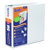 """Quick Fit D-Ring View Binder, 3"""" Capacity, White (並行輸入品)"""