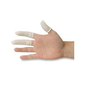Protective Latex Tissue Finger Cots Large 144/box by The Safety Zone