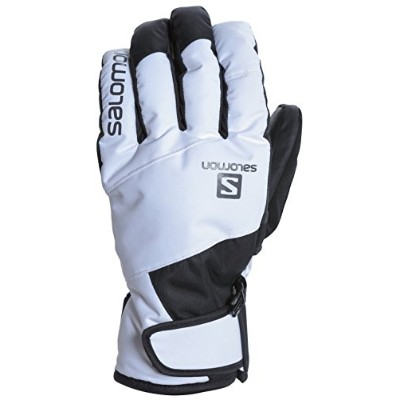 サロモン(SALOMON) スキーグローブ メンズ JP SALOMON LOGO GLOVE WHITE/BLACK/FORGED IRON XLサイズ L40287500