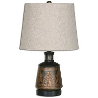 Uttermost 26211 Mela Hand Painted Lamp by Uttermost