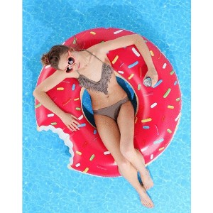 Inflatable Pool Floats Unicorn Swan Baby Flamingo Pizza Donut Boat Watermelon [Free Float 36  Design