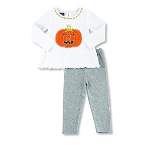 Mud Pie Baby Girls Tunic and Leggings Set Pumpkin Applique, 12-18 Months by Mud Pie