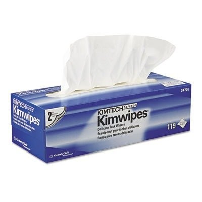 Kimtech Science Kimwipes Delicate Task Wipers - 2-Ply, 119 Wipes/Box by KAYDRY