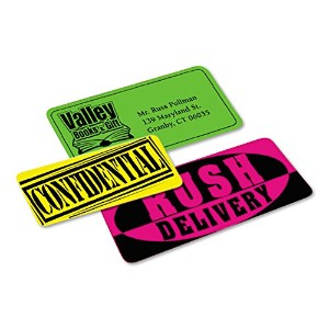 High-Visibility Laser Labels, 2 x 4, Assorted Neons, 150/Pack (並行輸入品)
