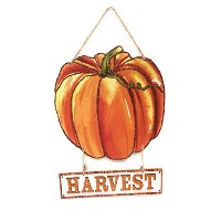 "Glittery Fall Harvest Hanging木製Welcomeサイン、13 "" 12"" x 12"" Welcome Fall"