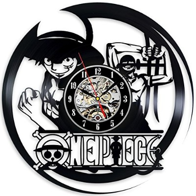 ワンピース - One Piece Anime Best Record Vinyl Wall Clock Home Room Art Vintage Modern Decoration - Win...