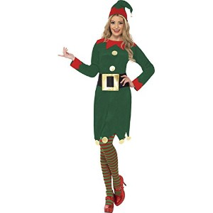 Smiffys Women's Green Elf Costume - Us Dress 10-12