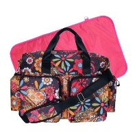 Trend Lab Deluxe Duffle Style Diaper Bag, Bohemian Floral by Trend Lab