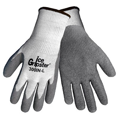 Global Glove 300IN Ice Gripster Insulated Acrylic Flat Dipped Glove, Work, Medium, Black (Case of...