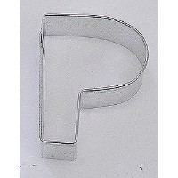 Stainless Steel Alphabet Cookie Cutter (p)