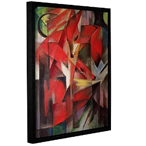 ArtWall Franz Marc 's The FoxギャラリーWrappedフロータ額入りキャンバス 24x32 1mar012a2432f