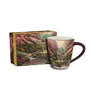 LangのプールSerenity Cafe Mug by Thomas Kinkade、マルチカラー