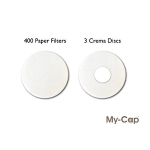 my-cap 's 400フィルタと3Crema Discs for Use with再利用可能なカプセルfor use with Nescafe Dolce Gusto Brewers ...