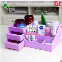 Korea drawer cosmetic storage box Creative Desktop storage box large plastic storage box