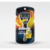 Gillette Fusion Proshield Yellow Flexball Mens Razor with 1 Razor Blades