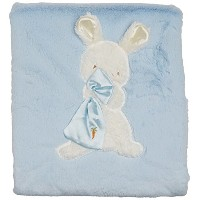 """Bunnies By The Bay My Blankie Blanket, Blue, 28"""" x 34"""" by Bunnies By The Bay"""