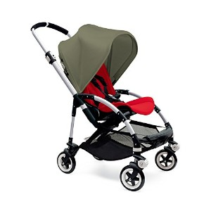 Bugaboo Bee3 Stroller - Dark Khaki - Red - Aluminum by Bugaboo