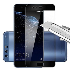LinkCrown HUAWEI P10 Plus 5.5 inch 3Dフルカバー【強化ガラス】液晶保護フィルム 【9H硬度】 0.26mm 防指紋 気泡レス 耐衝撃 飛散防止 2.5D...