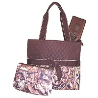 NGIL Quilted Diaper Bag 3-Piece Set, Camo Print by NGIL