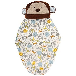 Mud Pie Monkey Swaddle Bunting and Cap, Cream by Mud Pie