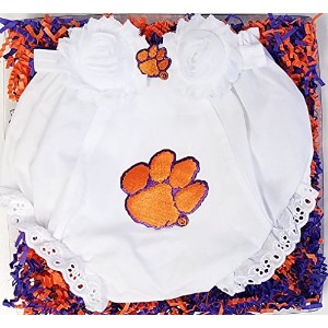 Clemson Tigers Baby Diaper Cover and Shabby Bow Headband Gift Set (6-12 months/ 15) by Future...