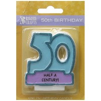 Oasis Supply 50th Birthday Candles, 2.75-Inch by Oasis Supply