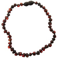 Momma Goose Baroque Teething Necklace, Dark Cherry, Small/11-11.5 by Momma Goose